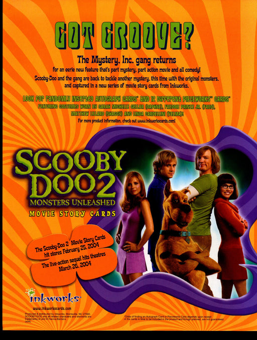 Scooby Doo 2 Movie Trading Card Dealer Sell Sheet Sale Promo Ad 2004   - TvMovieCards.com