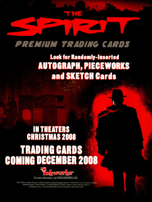 The Spirit Trading Card Dealer Sell Sheet Sale Promo Ad Inkworks 2008   - TvMovieCards.com