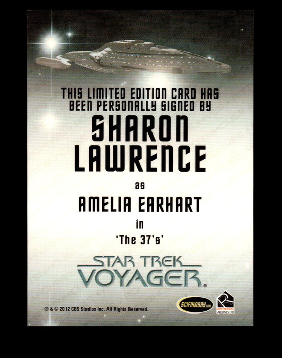 The Quotable Star Trek Voyager Sharon Lawrence as Amelia Earhart Autograph Card   - TvMovieCards.com