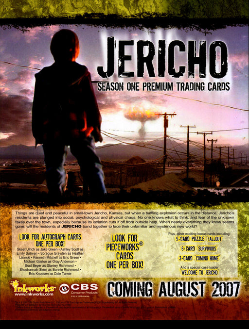 Jericho Season One Trading Card Dealer Sell Sheet Promotional Sale Inkworks 2007   - TvMovieCards.com