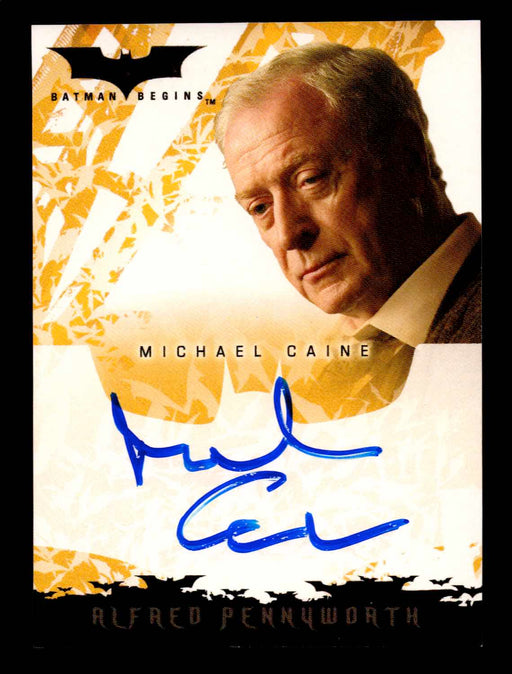 Batman Begins Movie Michael Caine as Alfred Pennyworth Autograph Card Topps 2005   - TvMovieCards.com