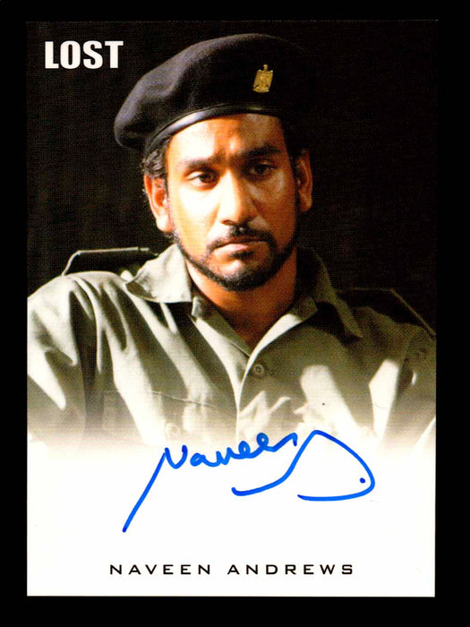 Lost Relics 2011 Naveen Andrews (Iraqi pose) as Sayid Jarrah Autograph Card   - TvMovieCards.com