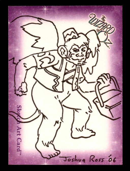 "Wizard of Oz Sketch Card by Joshua Ross ""Winged Monkey"" Breygent 2006   - TvMovieCards.com"