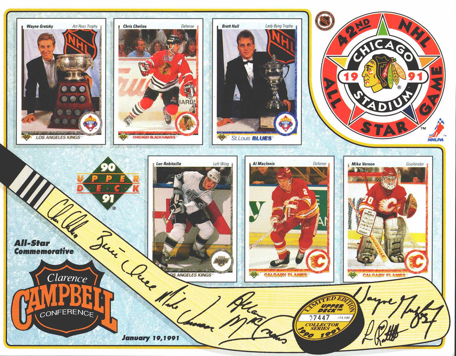 1990-91 Upper Deck NHL Hockey 42nd All-Star Game Sheets Wales Conf   - TvMovieCards.com