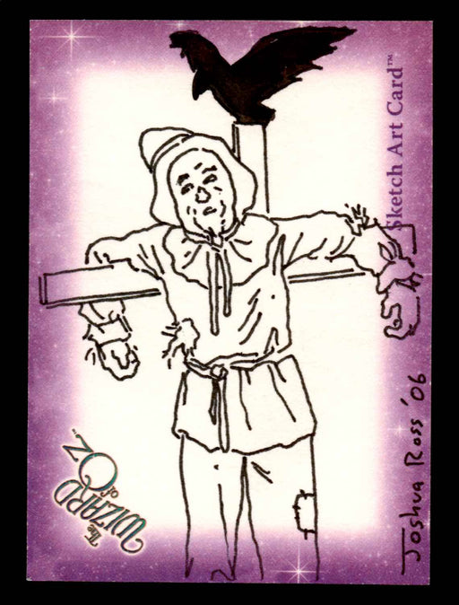 "Wizard of Oz Sketch Card by Joshua Ross ""Scarecrow"" Breygent 2006   - TvMovieCards.com"