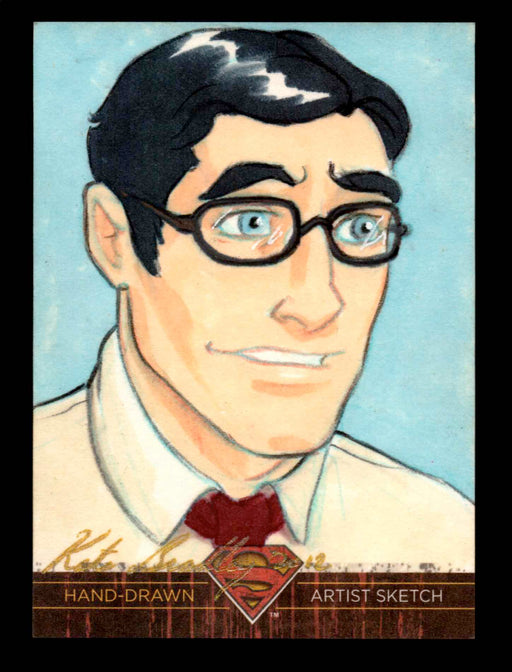 "Superman: The Legend 2013 Cryptozoic DC Comics Sketch Card by Kate ""Red"" Bradley   - TvMovieCards.com"