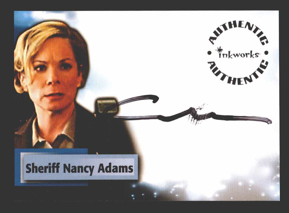 Smallville Season 3 Camille Mitchell as Sheriff Nancy Adams A17 Autograph Card   - TvMovieCards.com