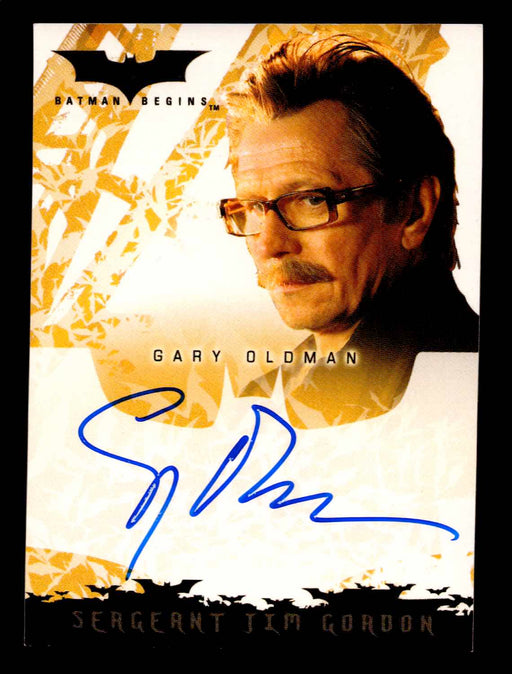 Batman Begins Movie Gary Oldman as Sergeant Jim Gordon Autograph Card Topps 2005   - TvMovieCards.com