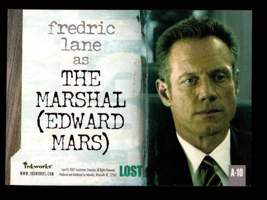 Lost Season 1 One A-10 Fredric Lane as The Marshal (Edward Mars) Autograph Card   - TvMovieCards.com
