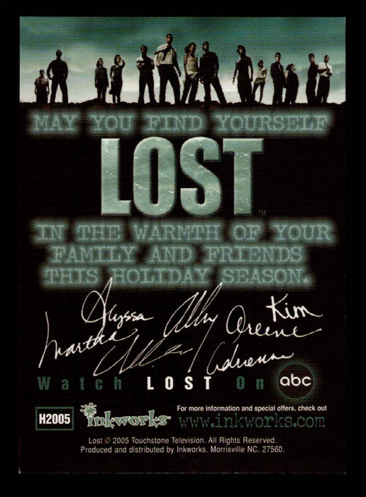 Lost Season 1 One H2005 Happy Holidays (14 cast) Promo Trading Card   - TvMovieCards.com