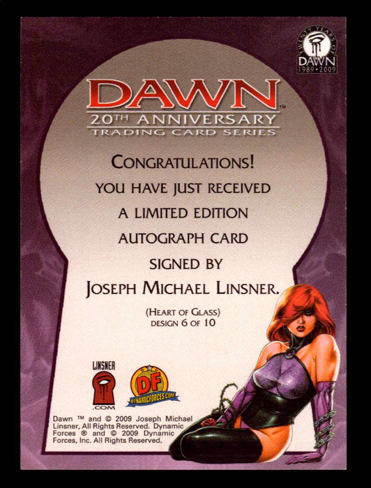 Dawn 20th Anniversary Joseph Michael Linsner Autograph Card 6 of 10 #21/335   - TvMovieCards.com