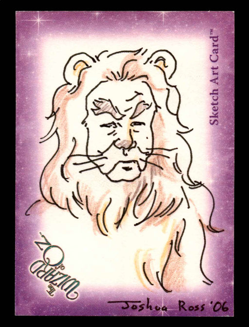 "Wizard of Oz Sketch Card by Joshua Ross ""Cowardly Lion"" Breygent 2006   - TvMovieCards.com"