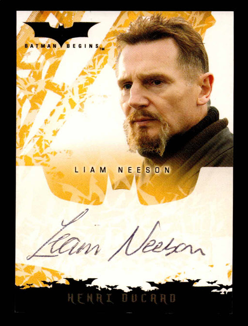 Batman Begins Movie Liam Neeson as Henri Ducard Autograph Card Topps 2005   - TvMovieCards.com