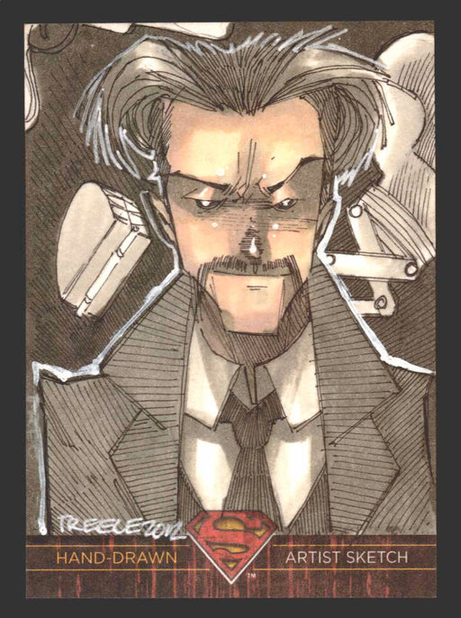 Superman: The Legend 2013 Cryptozoic DC Comics Sketch Card by Jeremy Treece   - TvMovieCards.com