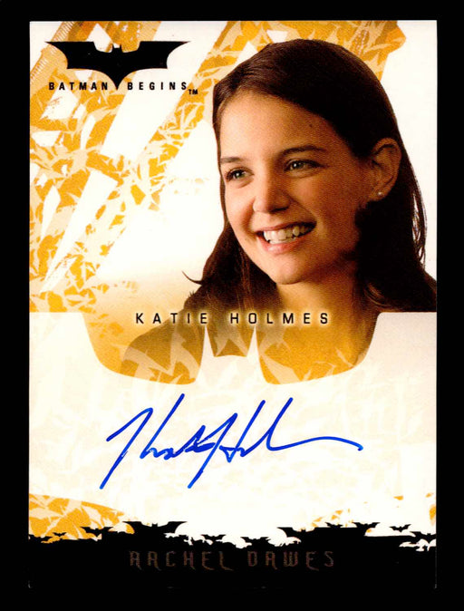 Batman Begins Movie Katie Holmes as Rachel Dawes Autograph Card Topps 2005   - TvMovieCards.com