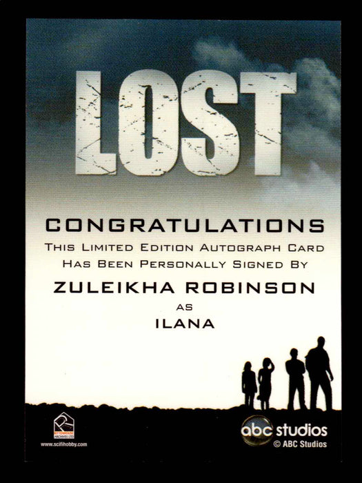 Lost Archives 2010 Zuleikha Robinson as Ilana Autograph Card   - TvMovieCards.com