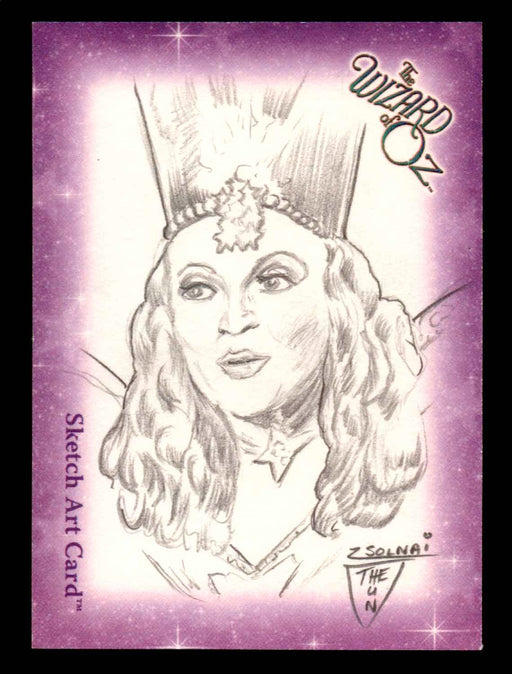 "Wizard of Oz Sketch Card by Chuck Zsolnai ""Glinda Good Witch"" Breygent 2006   - TvMovieCards.com"