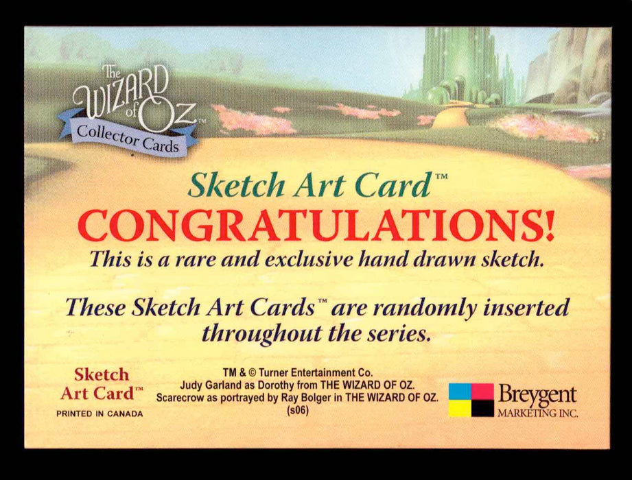 "Wizard of Oz Sketch Card ""Wicked Witch & Shoes"" Breygent 2006   - TvMovieCards.com"