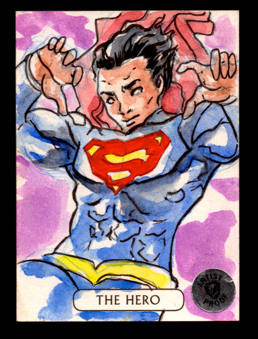 2016 DC Comics Justice League Artist Proof 1/1 Sketch Card Cryptozoic Superman   - TvMovieCards.com