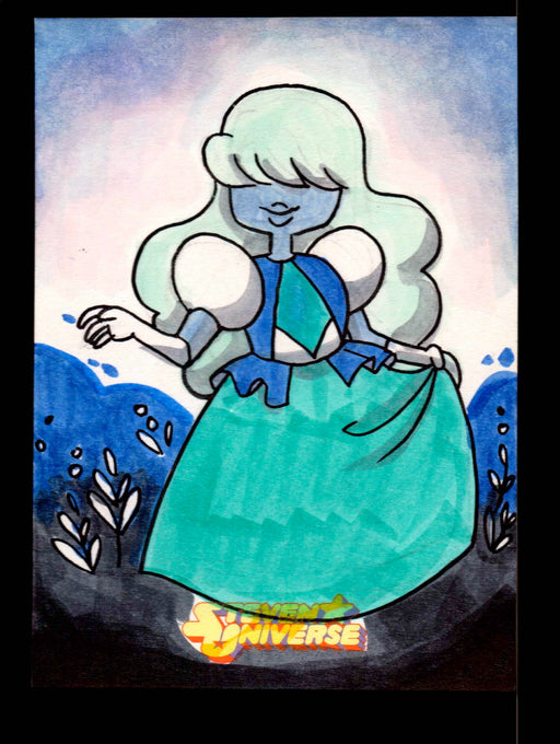 "2019 Steven Universe Artist Sketch Card ""Sapphire"" by Hanie Mohd Cryptozoic   - TvMovieCards.com"
