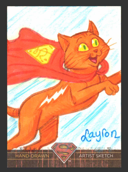 Superman: The Legend 2013 Cryptozoic DC Comics Sketch Card By Layron DeJarnette   - TvMovieCards.com