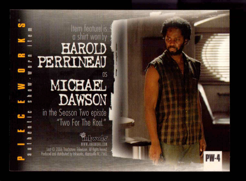 Lost Revelations PW-4 Harold Perrineau as Michael Dawson Pieceworks Costume Card   - TvMovieCards.com