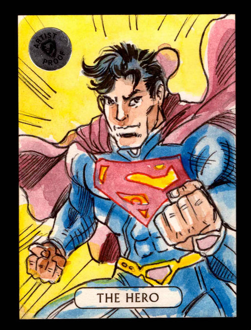 2016 DC Comics Justice League Artist Proof Vinicius Moura Sketch Card Superman   - TvMovieCards.com