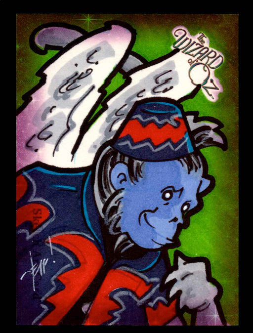 "Wizard of Oz Sketch Card by Jeff Chandler Color ""Winged Monkey"" Breygent 2006   - TvMovieCards.com"