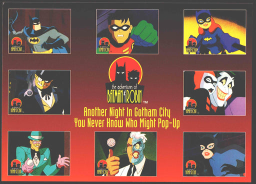1995 The Adventures of Batman & Robin Prototype S1 Promo Card Sheet   - TvMovieCards.com
