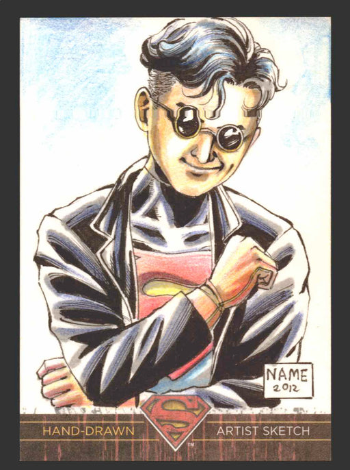 Superman: The Legend 2013 Cryptozoic DC Comics Sketch Card By Eman Casallos NAME   - TvMovieCards.com