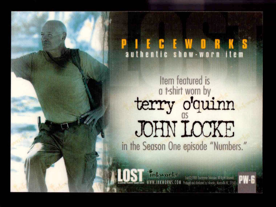 Lost Season 1 One PW-6 Terry O'Quinn as John Locke Pieceworks Costume Card   - TvMovieCards.com