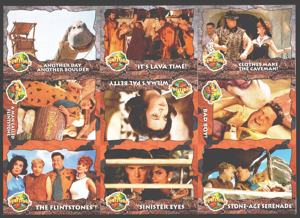 1993 The Flintstones Uncut 9 Card Panel Promo Sheet Topps   - TvMovieCards.com
