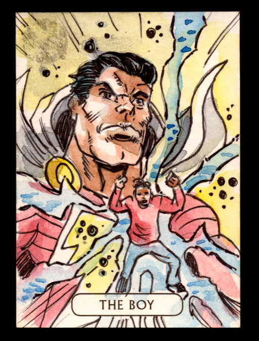 2016 DC Comics Justice League Artist Vinicius Moura Sketch Card Superman   - TvMovieCards.com