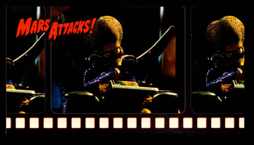 1996 Mars Attacks Widevision Promo Card (Martian Reading) Green Back Topps   - TvMovieCards.com