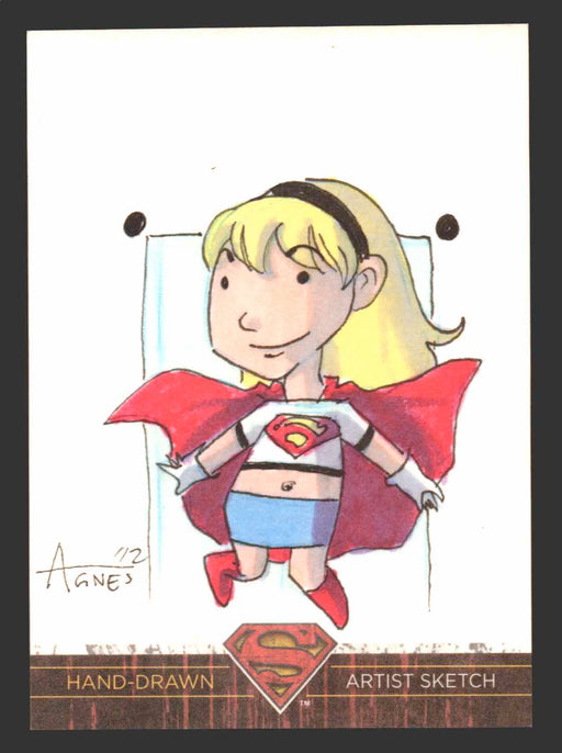 Superman: The Legend 2013 Cryptozoic DC Comics Sketch Card Agnes Garbowska   - TvMovieCards.com