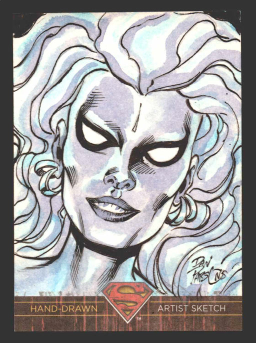 Superman: The Legend 2013 Cryptozoic DC Comics Sketch Card by Dan Parsons   - TvMovieCards.com