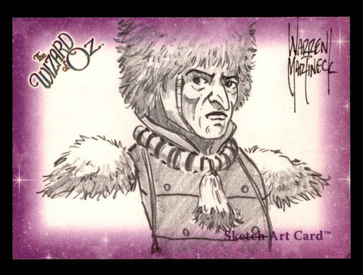 "Wizard of Oz Sketch Card by Warren Martineck ""Guard"" Breygent 2006   - TvMovieCards.com"