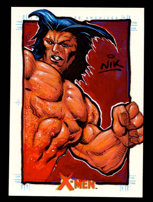 X-Men Archives 2009 Marvel Artist Sketch Trading Card 1/1 by Nick Neocleous (Nik)   - TvMovieCards.com