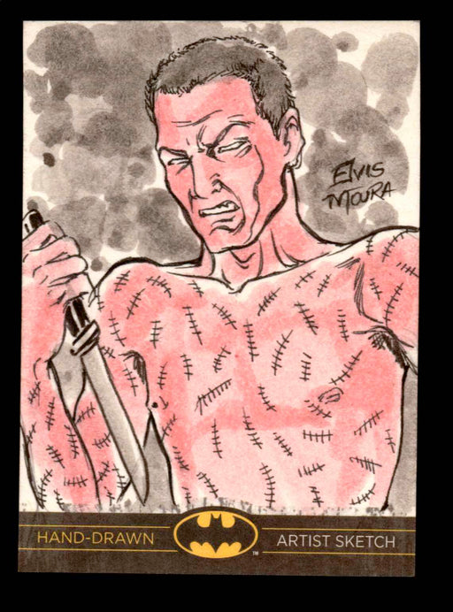 DC Comics Batman: The Legend 2013 Cryptozoic Sketch Card by Elvis Moura   - TvMovieCards.com