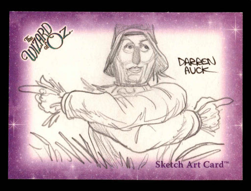"Wizard of Oz Sketch Card by Darren Auck ""Scarecrow"" Breygent 2006   - TvMovieCards.com"