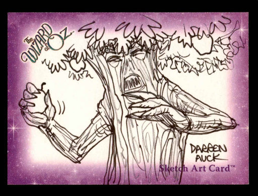 "Wizard of Oz Sketch Card by Darren Auck ""Fighting Tree"" Breygent 2006   - TvMovieCards.com"
