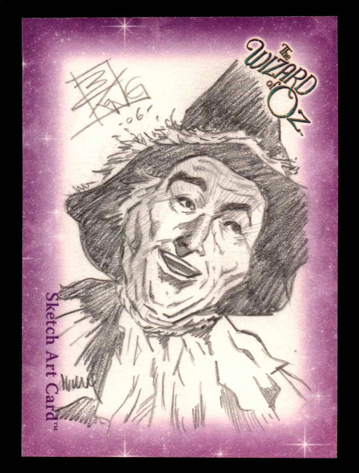 "Wizard of Oz Sketch Card by Brian Kong ""Scarecrow"" Breygent 2006   - TvMovieCards.com"