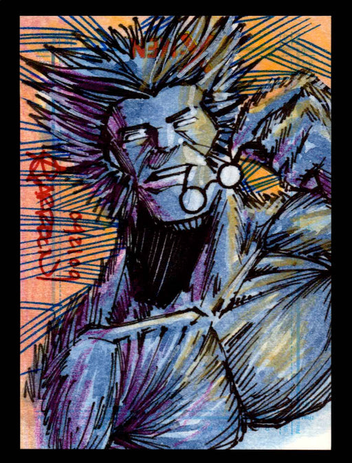 X-Men Archives 2009 Marvel Artist Sketch Trading Card 1/1 by Andy Carreon   - TvMovieCards.com