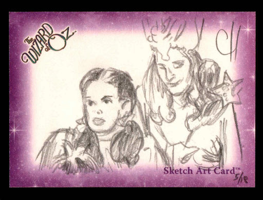 "Wizard of Oz Sketch Card by Chris Henderson""Dorothy & Glinda"" Breygent 2006   - TvMovieCards.com"