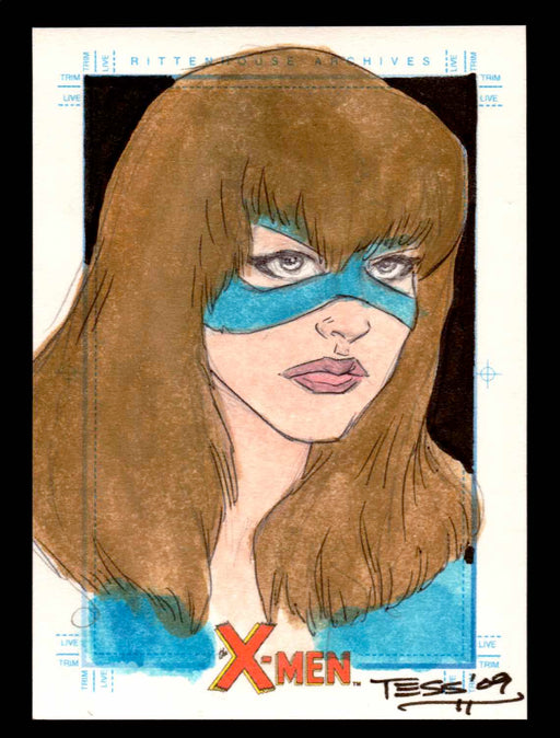 X-Men Archives 2009 Marvel Artist Sketch Trading Card 1/1 by Tess Fowler   - TvMovieCards.com