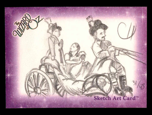 "Wizard of Oz Sketch Card by Chris Henderson""Dorothy"" Breygent 2006   - TvMovieCards.com"