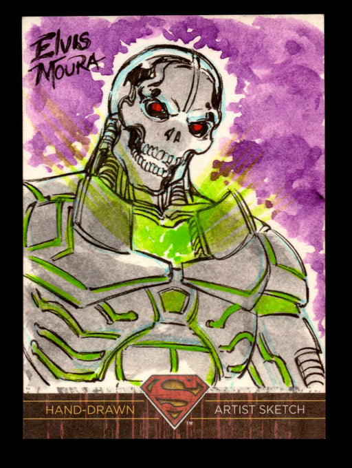 Superman: The Legend 2013 Cryptozoic DC Comics Sketch Card by Elvis Moura   - TvMovieCards.com
