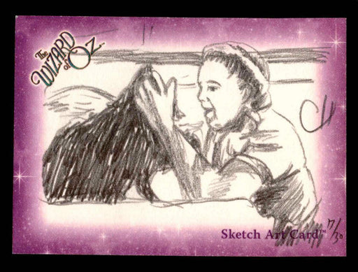 "Wizard of Oz Sketch Card by Chris Henderson ""Toto & Auntie Em"" Breygent 2006   - TvMovieCards.com"