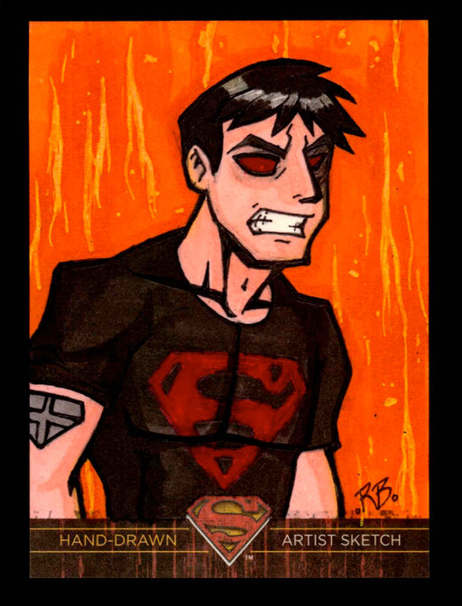 Superman: The Legend 2013 Cryptozoic DC Comics Sketch Card Richard Brady   - TvMovieCards.com