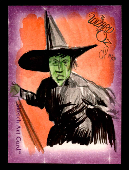 "Wizard of Oz Sketch Card by Chris Henderson Color ""Wicked Witch"" Breygent 2006   - TvMovieCards.com"
